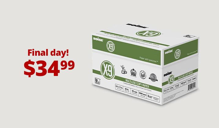 Hot Paper Deals Boise® X-9® copy paper, 10-ream case