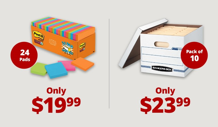 Save up to 35% on select office supplies