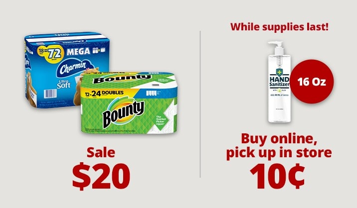 Stock up & Save on paper towels, sanitizers and more