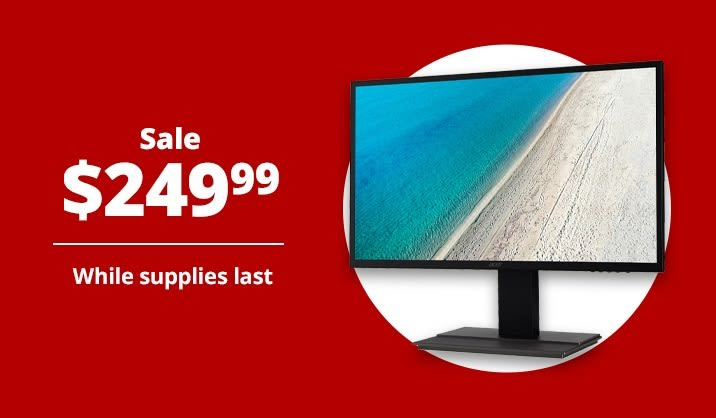 "Sale $249.99 Acer® 31.5"" WQHD Monitor"