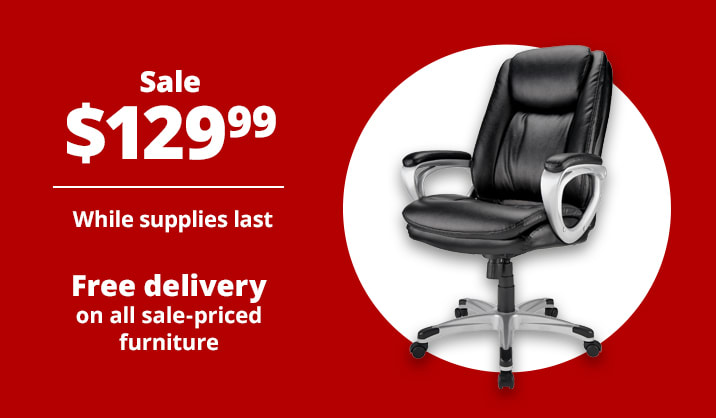 Sale $129.99 Realspace® Treswell High-Back Executive Chair