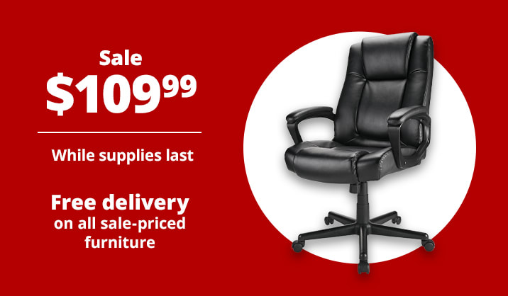 Sale $109.99 Realspace® Hurston High-Back Executive Chair