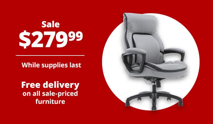 Sale $279.99 Shaquille O'Neal™ Amphion Ergonomic High-Back Executive Chair