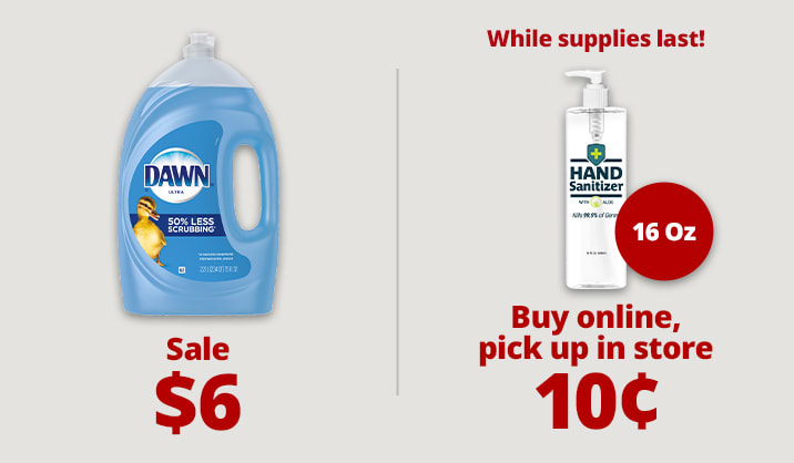 Stock up & Save on dish soap, sanitizers and more