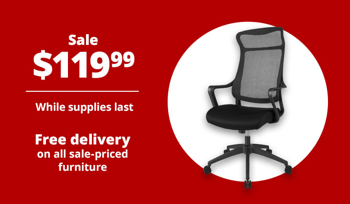 Sale $119.99 Realspace® Lenzer High-Back Task Chair