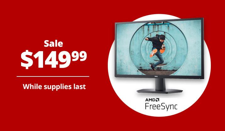 """Sale $149.99 Dell™ 27"""" FHD LED Monitor, AMD FreeSync"""