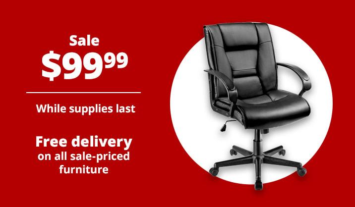 Sale $99.99 Brenton Studio® Ruzzi Mid-Back Manager's Chair
