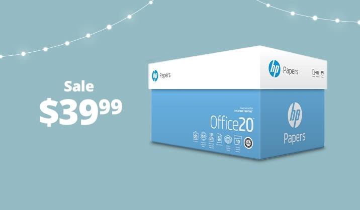 Hot Paper Deals HP Office paper, 10-ream case