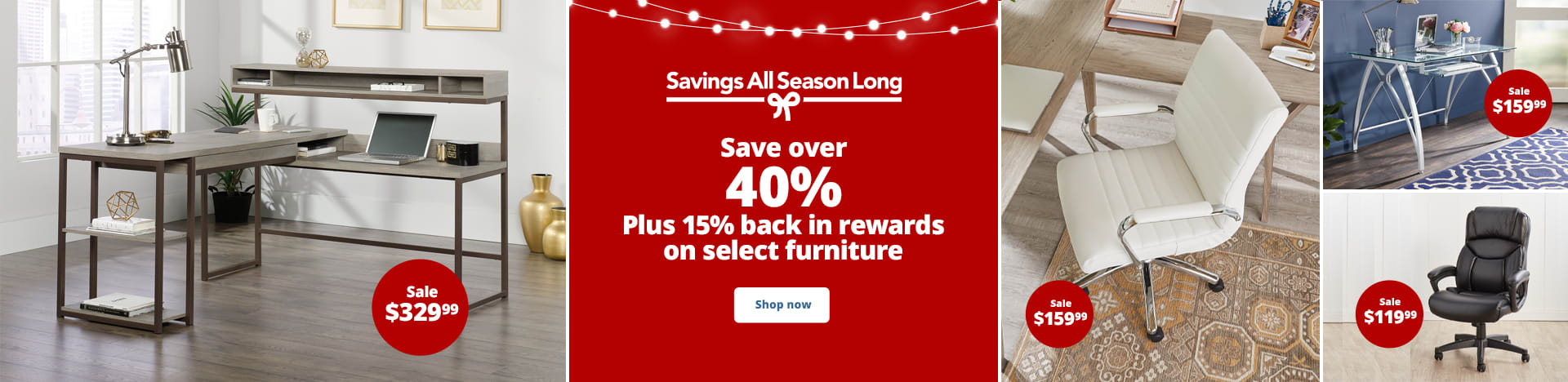 Save over 40% on select furniture