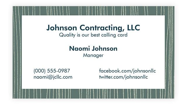 Tailor Your Card-Business Card Etiquette 1