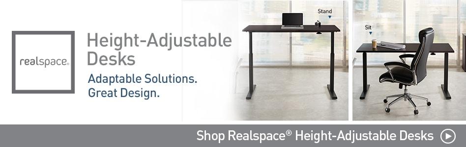 Realspace Adjustable Desk