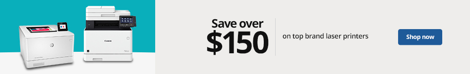 Save over $150 on select Top Brand Laser Printers