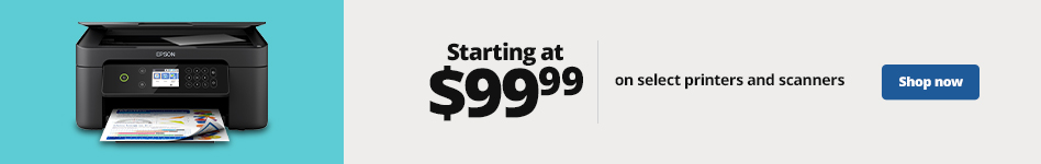 Starting at $99.99 Printers & Scanners