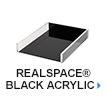 Realspace Black Acrylic