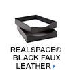 Realspace Black Faux Leather