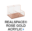 Realspace Rose Gold Acrylic