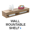 Wall Mountable Shelf