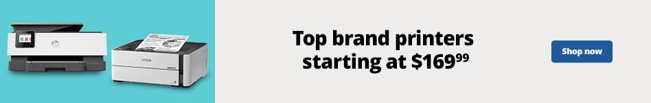 Top Brand Printers starting at $169.99