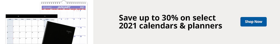 Save up to 30% select calendars and planners