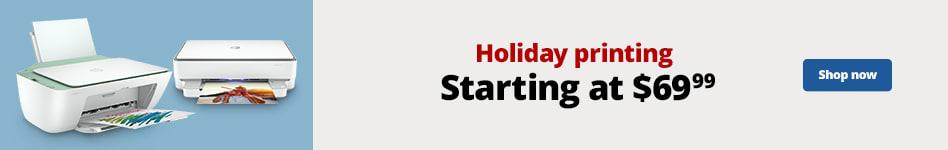 Holiday Printing Starting at $69.99