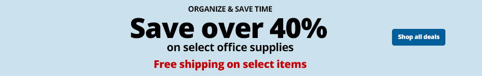 Save over 40% on select office supplies