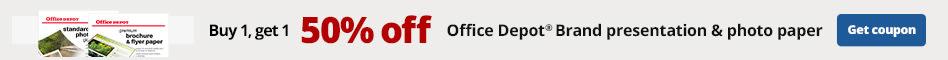 Buy 1 Get 1 50% off Office Depot Brand presentation & photo paper