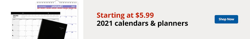 Starting at $5.99 2021 calendars & planners