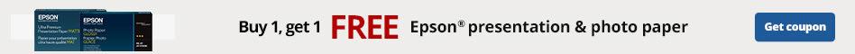 Buy 1 Get 1 Free Epson presentation & photo paper