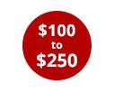 $100-$250