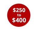 $250-$400