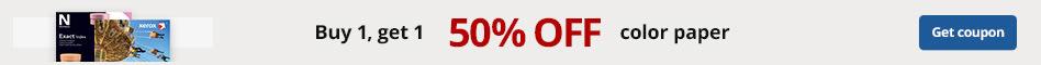 Buy 1, Get 1 50% off color paper