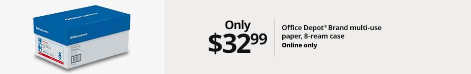 $32.99 Office Depot Brand multi-use paper