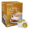 Cafe Escapes™ Chai Latte Coffee Single-Serve K-Cup®, Carton Of 24