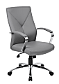 Boss Office Products Ergonomic High-Back Chair, Gray/Chrome/Gray