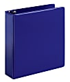 """Office Depot® Brand Durable 3-Ring Binder, 2"""" D-Rings, 65% Recycled, Blue"""