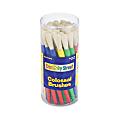 Chenille Kraft Creativity Street Colossal Brush Set, Assorted Colors, Round Bristle, Set Of 30