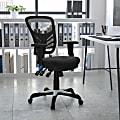 Flash Furniture Ergonomic Mesh Mid-Back Swivel Task Chair, Black