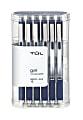 TUL® Retractable Gel Pens, Medium Point, 0.7 mm, Silver Barrel, Blue Ink, Pack Of 12 Pens
