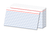 """Office Depot® Brand Ruled Index Cards, 3"""" x 5"""", White, Pack Of 500"""