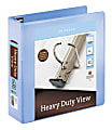 """Office Depot® Brand Heavy-Duty View 3-Ring Binder, 3"""" D-Rings, 54% Recycled, Periwinkle"""