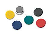 """OfficeMax® Brand Heavy Duty Magnets, 1 1/4"""" Diameter, Pack Of 12"""
