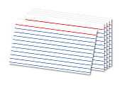 """Office Depot® Brand Ruled Index Cards, 3"""" x 5"""", White, Pack Of 300"""