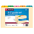 Smead® Legal-Size Manila File Guides, Alphabetical, Assorted Color Tabs, Pack Of 25