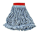 Rubbermaid® Wet Mop Head, Super Stitch®, Cotton Blend, Red, Case Of 6