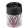 Office Depot® Brand Large Clip Dispenser, Black/Clear