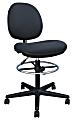 Brenton Studio® Cosimo Fabric Mid-Back Drafting Stool, Black/Chrome