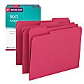 Smead® Color File Folders, Letter Size, 1/3 Cut, Red, Box Of 100