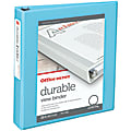 """Office Depot® Brand Durable View 3-Ring Binder, 1 1/2"""" Round Rings, 49% Recycled, Jeweler Blue"""