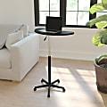 Flash Furniture Height Adjustable Mobile Contemporary Laminate Laptop Desk, Black