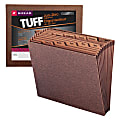 "Smead® TUFF® Expanding File, 12 Pockets, Monthly, 12"" x 10"" Letter Size, 30% Recycled, Brown"